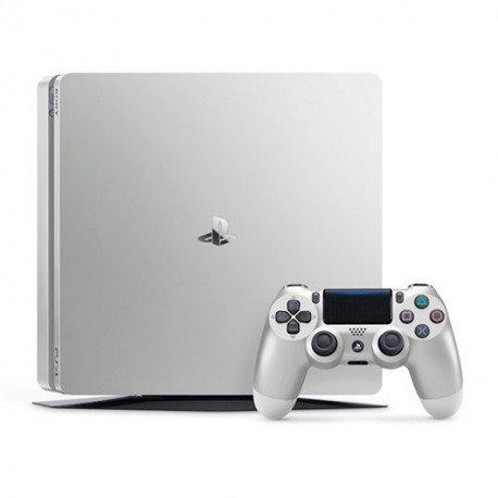 VIDEOCONSOLA SONY PS4 500GB SILVER SLIM+2DUALSHOCK