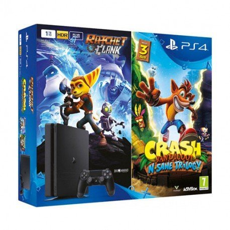VIDEOCONSOLA SONY PS4 1TB SLIM + CRASH BANDICOOT